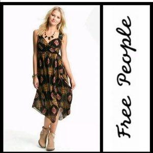 FP All Wrapped Maxi Dress Ikat Size Medium